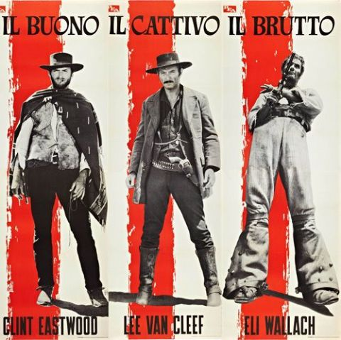 The Good The Bad and The Ugly Italian Poster T-Shirt. Movie Film Tee #2 13 Sizes